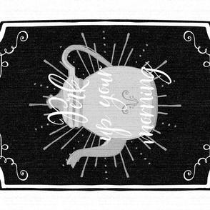 Perk up your morning Tea Towel