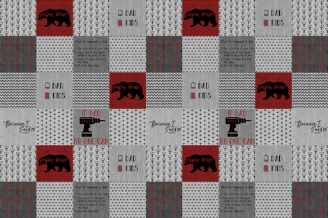 #DadLife Red and Black Recolor fabric by lacklandacres on Spoonflower - custom fabric