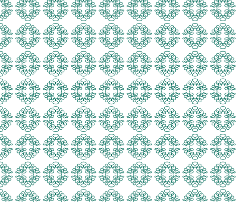 Squigglies SFP Green fabric by maria_spinozzi on Spoonflower - custom fabric