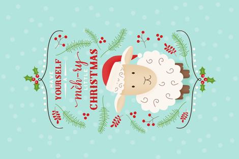 Meh-ry Christmas Sheep fabric by dream_ingredients on Spoonflower - custom fabric