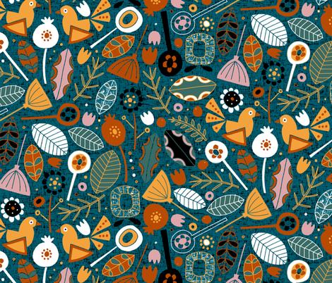 BLOM LIMITED fabric by scrummy on Spoonflower - custom fabric
