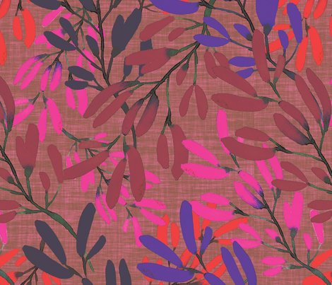 Aussie Kangaroo paw Vibrant fabric by thepoonapple on Spoonflower - custom fabric