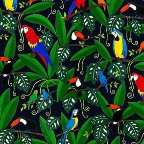 Jungle Birds - navy