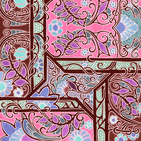 Pink And Brown Bloom Around fabric by edsel2084 on Spoonflower - custom fabric