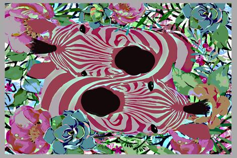Zebra Dreams too fabric by lkm3s on Spoonflower - custom fabric