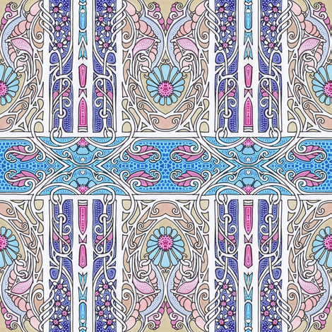 Persian Curl fabric by edsel2084 on Spoonflower - custom fabric