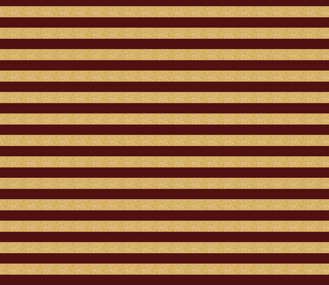 gold maroon stripe garnet and gold  fabric by jenlats on Spoonflower - custom fabric