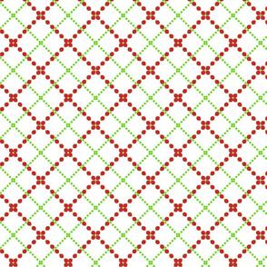 Christmas theme mesh pattern