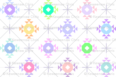 pastel patchwork sparkle