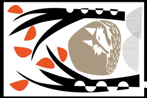 I love wolf fabric by zapi on Spoonflower - custom fabric