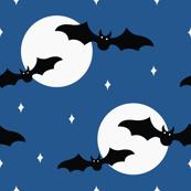 Halloween Bats Flying in the Night Sky