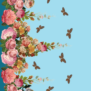 Buttterfly and Rose