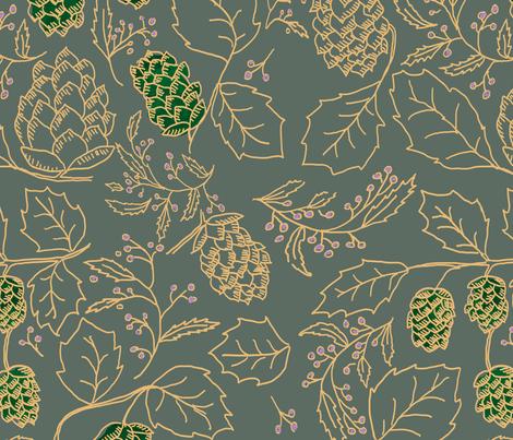 hops fabric by palmrowprints on Spoonflower - custom fabric