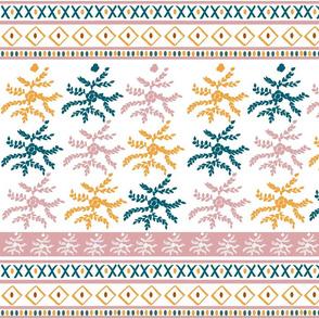 fair isle floral MED 105 - saffron blush lagoon