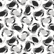 Crabs - black and white