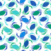 Crabs - blue and green