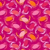 Crabs - dark pink