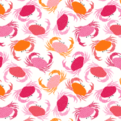 Crabs - pink and orange