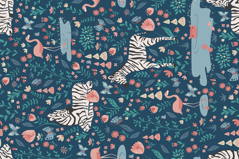 Wild Zebras fabric by latheandquill on Spoonflower - custom fabric