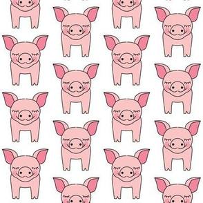 pink symmetrical pigs