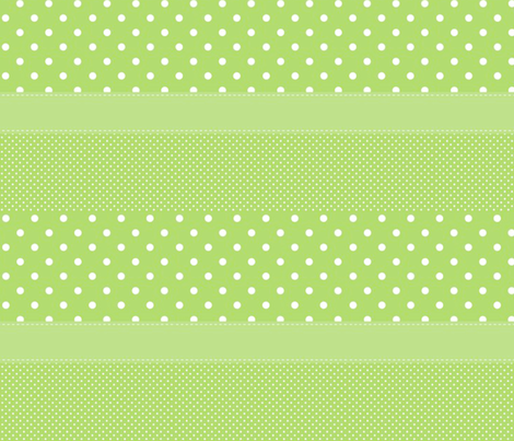 Green Polka Dot Stripe fabric by ampersand_designs on Spoonflower - custom fabric