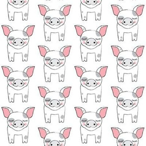 spotted symmetrical pigs