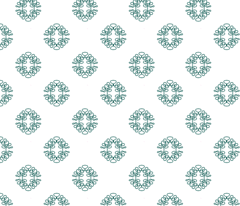 Sparse Squigglies Teal fabric by maria_spinozzi on Spoonflower - custom fabric