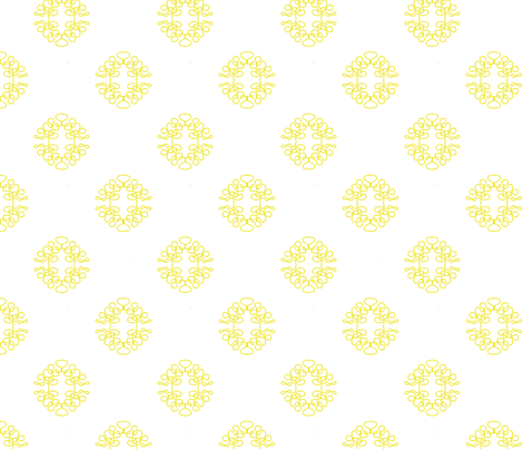 Sparse Squigglies Yellow fabric by maria_spinozzi on Spoonflower - custom fabric