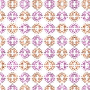 Squigglies Circles Pink and Orange