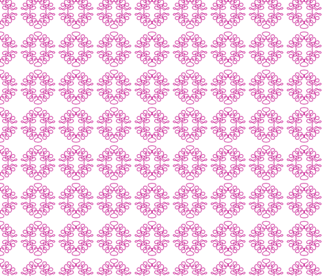 Squigglies Circles Pink fabric by maria_spinozzi on Spoonflower - custom fabric