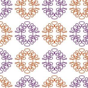 Squigglies Circles Purple and Orange
