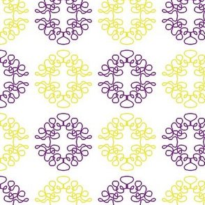 Squigglies Circles Purple and Yellow