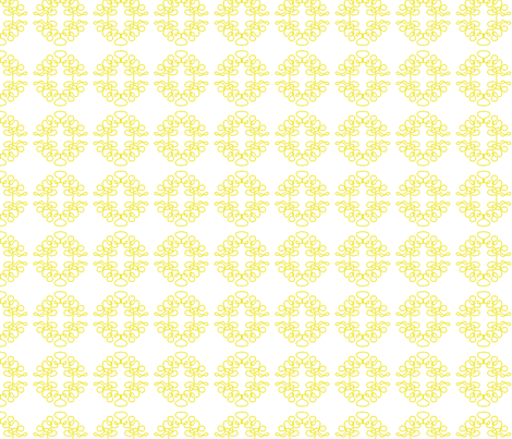 Squigglies Circles Yellow fabric by maria_spinozzi on Spoonflower - custom fabric