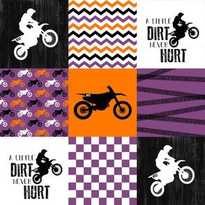 Custom - Motocross//A little Dirt Never Hurt//813 - Wholecloth Cheater Quilt