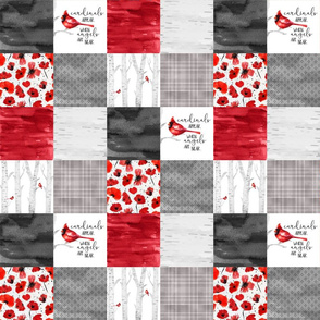 3 inch Cardinals//Angels are Near - Wholecloth Cheater Quilt