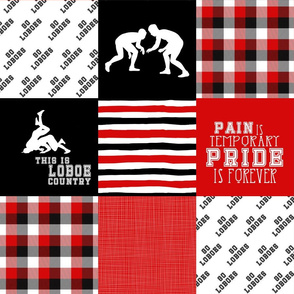 Wrestling//Loboes - Wholecloth Cheater Quilt