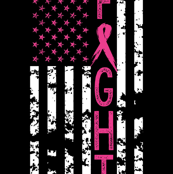 Fight//Breast Cancer//US Flag - 2 Yard Layout (MINKY)