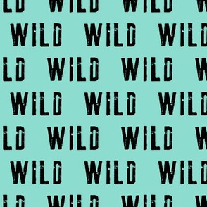 WILD- Coordinate to Little Man / Adventure - Wild - black and teal
