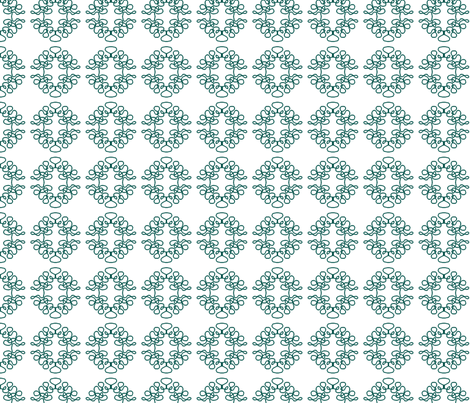 Squigglies Circles Green fabric by maria_spinozzi on Spoonflower - custom fabric