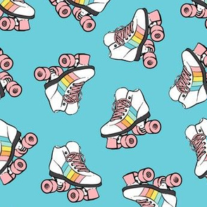 roller skates - blue