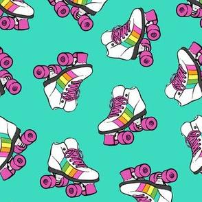roller skates - bright mint