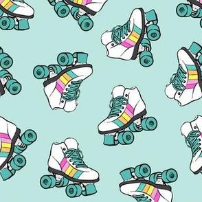 roller skates - light teal