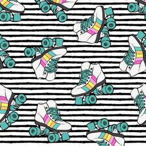 roller skates -  black stripes