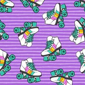 roller skates - purple stripes