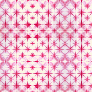 Shibori Diamonds 2 - small, pink