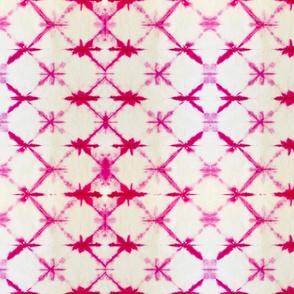 Shibori Diamonds 1 - medium, pink