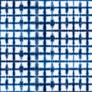 Shibori Squares 2 - small, blue