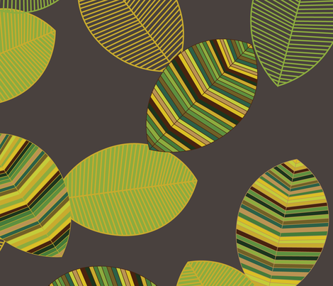 Falling Leaves in Green fabric by jofryerdesigns on Spoonflower - custom fabric
