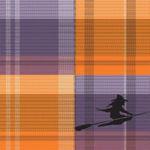 Rustic Halloween Witch Plaid