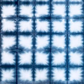 Shibori Squares 2 - large, indigo blue